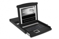 Console with 48.3 cm ( 19) TFT and Integrated 8-Port KVM Switch; Keyboard & To
