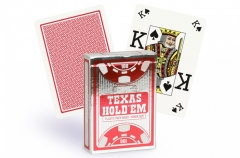 Copag Texas Holdem Peek Index pokerio kortos (Raudonos)