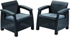 Corfu duo krēslu komplekts Dārza krēsli