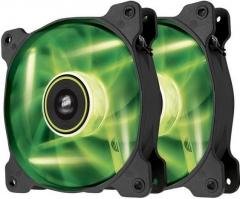Corsair PC case fan Air Series SP120 GREEN LED, 120mm, 3pin, Twin Pack