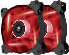 Corsair PC case fan Air Series SP120 RED LED, 120mm, 3pin, Twin Pack