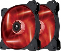 Corsair PC case fan Air Series SP140 RED LED, 140mm, 3pin, Twin Pack