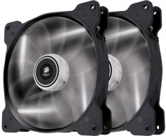 Corsair PC case fan Air Series SP140 WHITE LED, 140mm, 3pin, Twin Pack