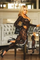 Crotchless Footless Lace Bodystocking Zeķes