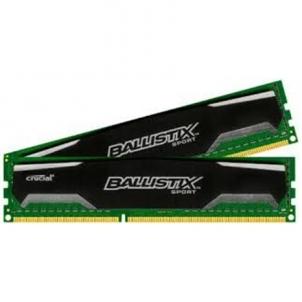 Crucial 16GB kit (8GBx2) DDR3 Ballistix Sport UDIMM 240pin, 1600 MT/s, PC3-12800, CL9, 1.5V