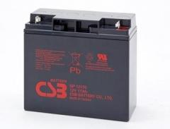 CSB 2 baterijų rinkinys GP12170 12V/17Ah
