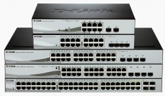D-Link 24-port 10/100/1000 Gigabit PoE (max.85W) Smart Switch incl. 4 Combo