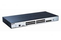 D-Link 24-port 10/100/1000 Layer2 Stackable PoE Gigabit Switch Combo 1000T/SFP