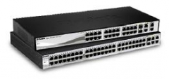 D-Link 48-port 10/100 Smart Switch  2 Combo 1000BaseT/SFP  2 Gigabit