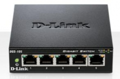 D-Link 5-port 10/100/1000 Gigabit Metal Housing Desktop Switch