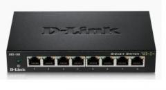 D-Link 8-port 10/100/1000 Gigabit Metal Housing Desktop Switch