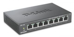 D-Link 8-port 10/100 Metal Housing Desktop Switch Centrmezgli, slēdži