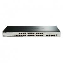 D-LINK DGS-1510-28X, Gigabit Stackable SmartPro Switch with 24 10/100/1000Base-T ports