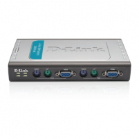 D-LINK DKVM-4K, 4port KVM switch with 2 cable, Control 4 PCs from a single keyboard, monitor, mouse.