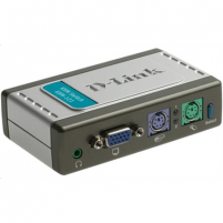 D-LINK KVM-121, 2-port KVM Switch with build in cables