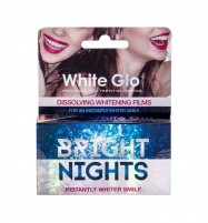 Dantų balinimas White Glo Bright Nights Whitening Films Teeth Whitening 6pc Dantų pasta, skalavimo skysčiai