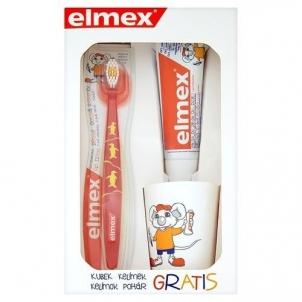 Dantų pasta + šepetėlis Elmex Perfect ( Kids Set) Dantų pasta, skalavimo skysčiai