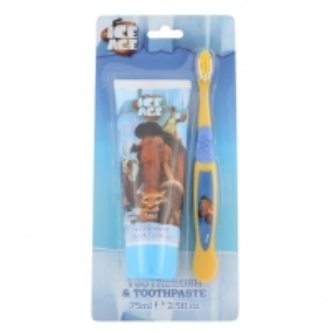 Dantų pasta Ice Age Toothpaste Strawberry Duo Kit Cosmetic 75ml Mutes dobuma higiēnu