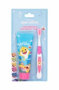 Dantų šepetėlis Pinkfong Baby Shark Toothbrush 1pc Dantų šepetėliai