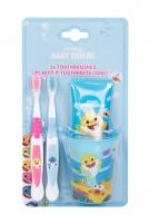 Dantų šepetėlis Pinkfong Baby Shark Toothbrush 2pc Dantų šepetėliai