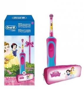 Dantų šepetukas Braun Toothbrush Oral-B Vitality Kids Princess + etui Mutes dobuma higiēnu