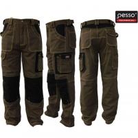 Darbo kelnės Pesso rudos spalvos Darbinės kelnės