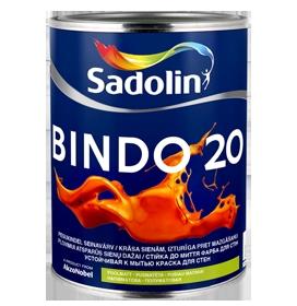 Dažai latekso Bindo 20 BW balti pusiau matiniai 2,5ltr.
