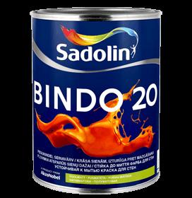 Dažai latekso Bindo 20 BW pusiau matiniai 10ltr.