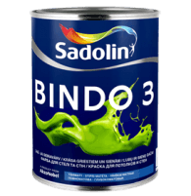 Dažai latekso Bindo 3 BW balti matiniai 2,5ltr. Emulsiniai dažai