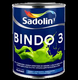 Dažai latekso Bindo 3 BW matiniai 10ltr.