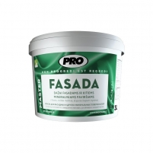 Dažai PRO FASADA 10 L balta mineraliniams fasadams