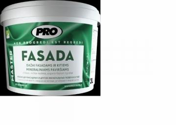 Paint PRO FASADA 9 L bazė B,C mineraliniams fasadams
