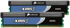 DDR3 Corsair XMS3 4GB (2x2GB) 1600MHz CL9 1.65V