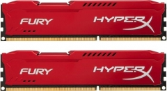 DDR3 Kingston HyperX Fury Red 8GB (2x4GB) 1600MHz CL10 1.5V