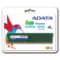 DDR3L Adata Premier 4GB 1600Mhz CL11 U-DIMM