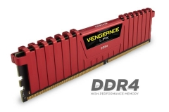DDR4 Corsair Vengeance LPX Red 16GB (4x4GB) 3000MHz CL15 1.35V, Intel XMP 2.0