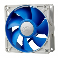 Deepcool 80mm Ultra silent fan with patented De-vibration TPE cover, BLUE, for case and psu Aušintuvai