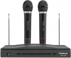 Mikrofonų rinkinys DEFENDER Wireless MIC-155 black