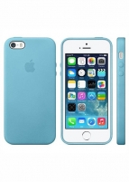 Dėklas Apple Leather Cover for IPHONE 5S (Blue)