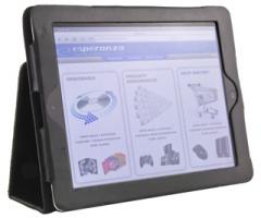 Dėklas/stovas Esperanza skirtas iPad 2 ir New iPad (iPad3) | Dvi padėtys |Juodas Planšetinių kompiuterių priedai