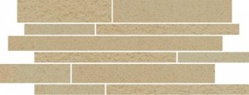 Dekoratyvinė 20*52 ARKESIA BEIGE MIX PASKI, akmens masės juostelė Akmens masės apdailos plytelės