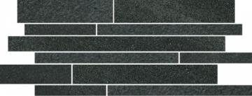 Dekoratyvinė 20*52 ARKESIA GRAFIT MIX PASKI, akmens masės juostelė Akmens masės apdailos plytelės