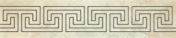 Dekoratyvinė 9.8*44.8 SANTA CATERINA LAPPATO MEANDER, akmens masės juostelė