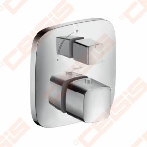 Dekoratyvinė dalis potinkiniam termostatiniam dušo maišytuvui HANSGROHE PuraVida su išjungimo mygtuku