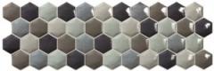 Dekoratyvinė tile 18*55.5 NARA HEXA COLD BRILLO, Ceramic decoration tile