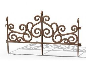 Dekoratyvinė tvorelė KUTY, 60x34,5 cm Plastikinės sodo tvorelės, borteliai, tinkleliai