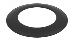 Dekoratyvinis žiedas juodas 130-CZ (ML)