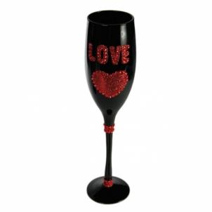Dekoruotos šampano taurės vakarėliui ,,Love
