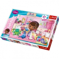 Dėlionė 14199 TREFL  Доктор Плюшева MAXI, 24 дет. Jigsaw for kids