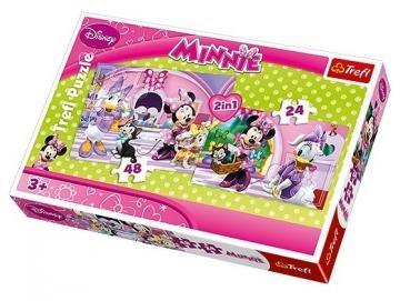 Dėlionė Tref puzzle 34166 Trefl 34166 2 in 1 Minnie: 24+48